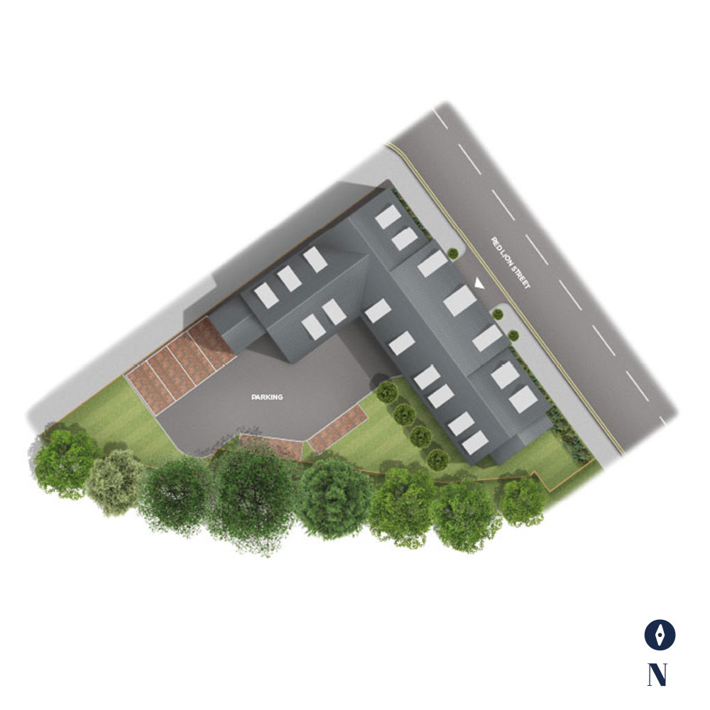 The Courtyard Siteplan